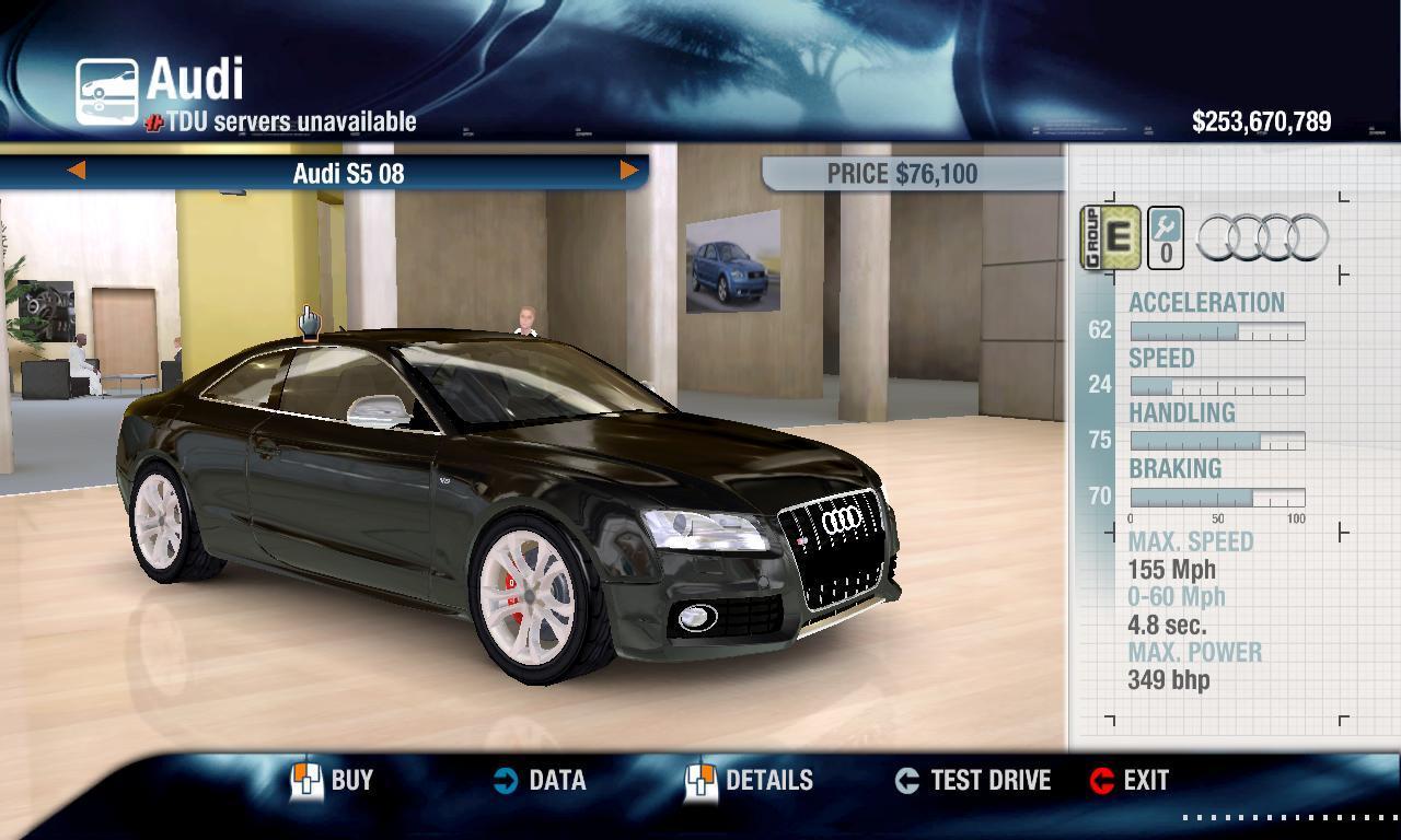 Thunderhawk17382 2008 Audi S5 physics + performance packs