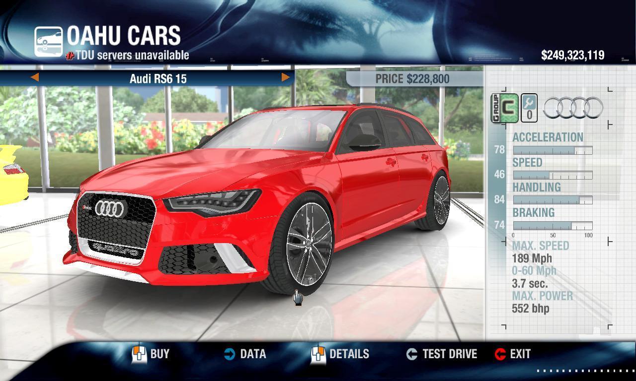 Rulezzz 2015 Audi RS6 physics + performance packs