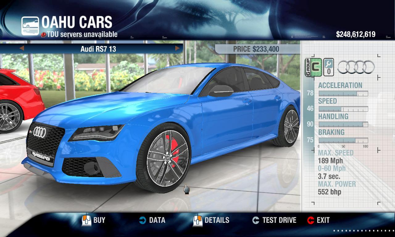 Rulezzz 2013 Audi RS7 physics + performance packs
