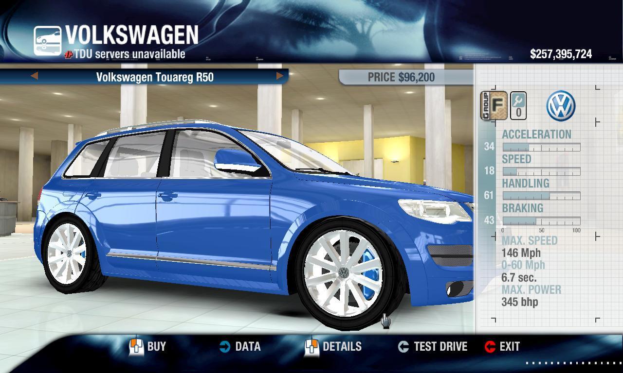 Miha2795 2008 Volkswagen Touareg R50 physics + performance packs