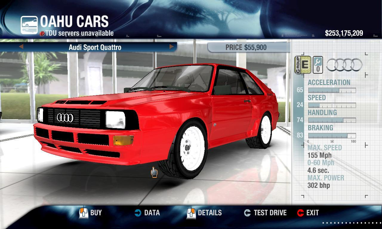 Miha2795 1983 Audi Sport Quattro physics + performance packs