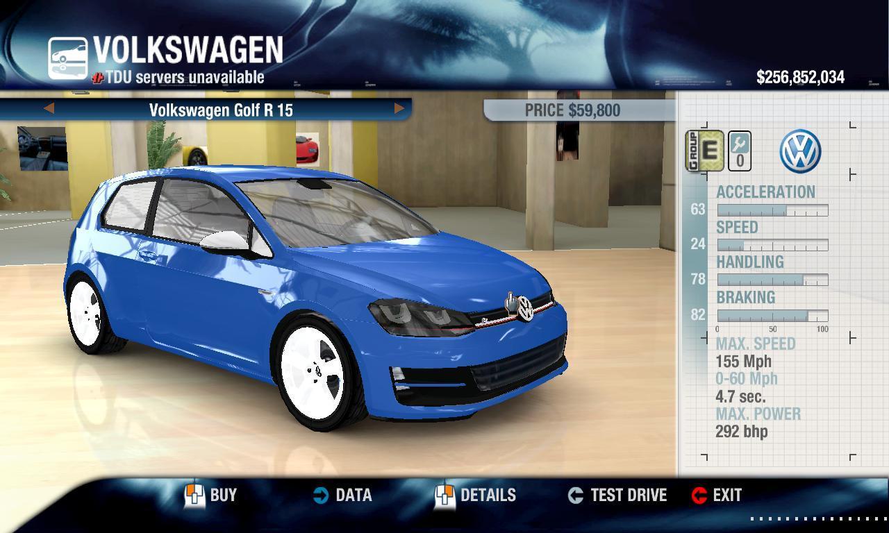 Rulezzz 2015 Volkswagen Golf R physics + performance packs