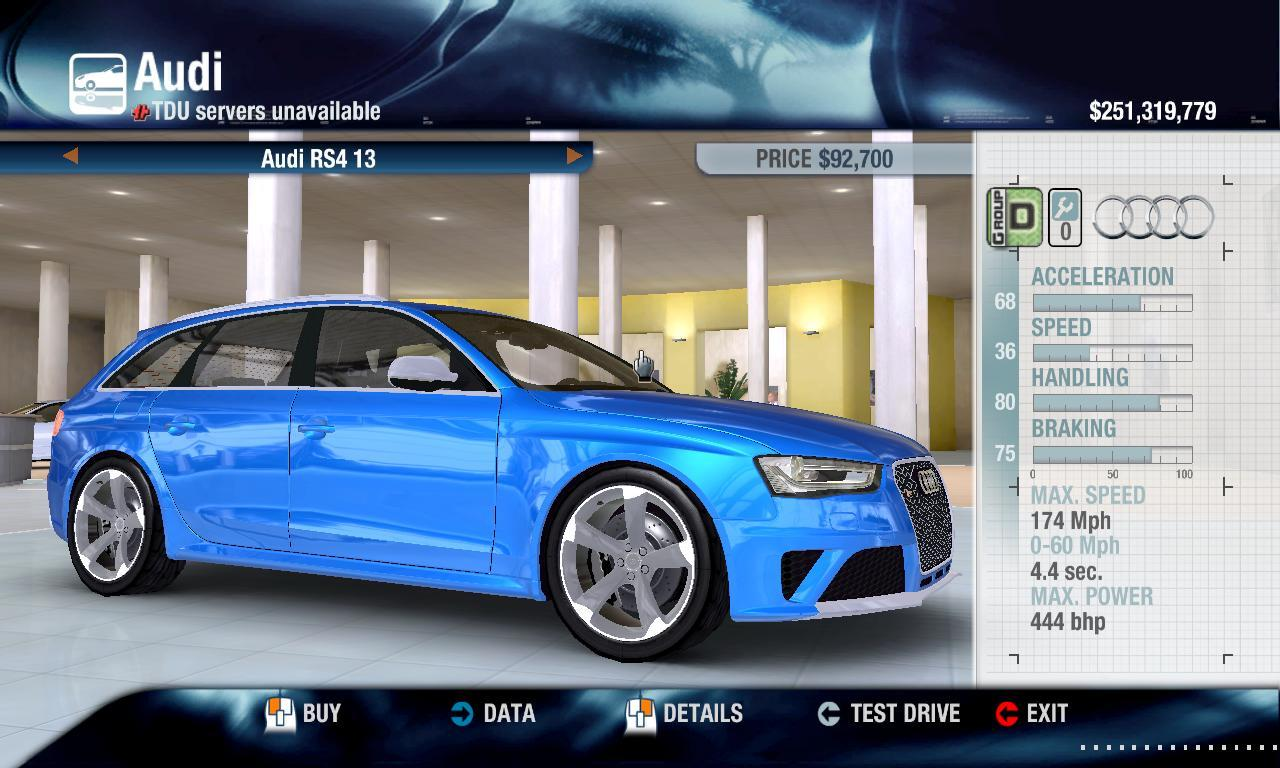 Miha2795 2013 Audi RS4 physics + performance packs