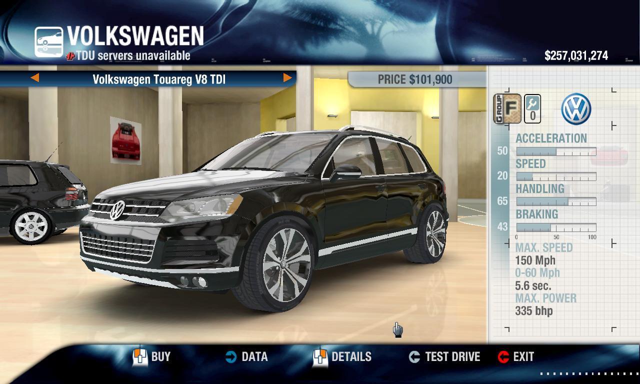 Rulezzz 2014 Volkswagen Touareg V8 TDI physics + performance packs