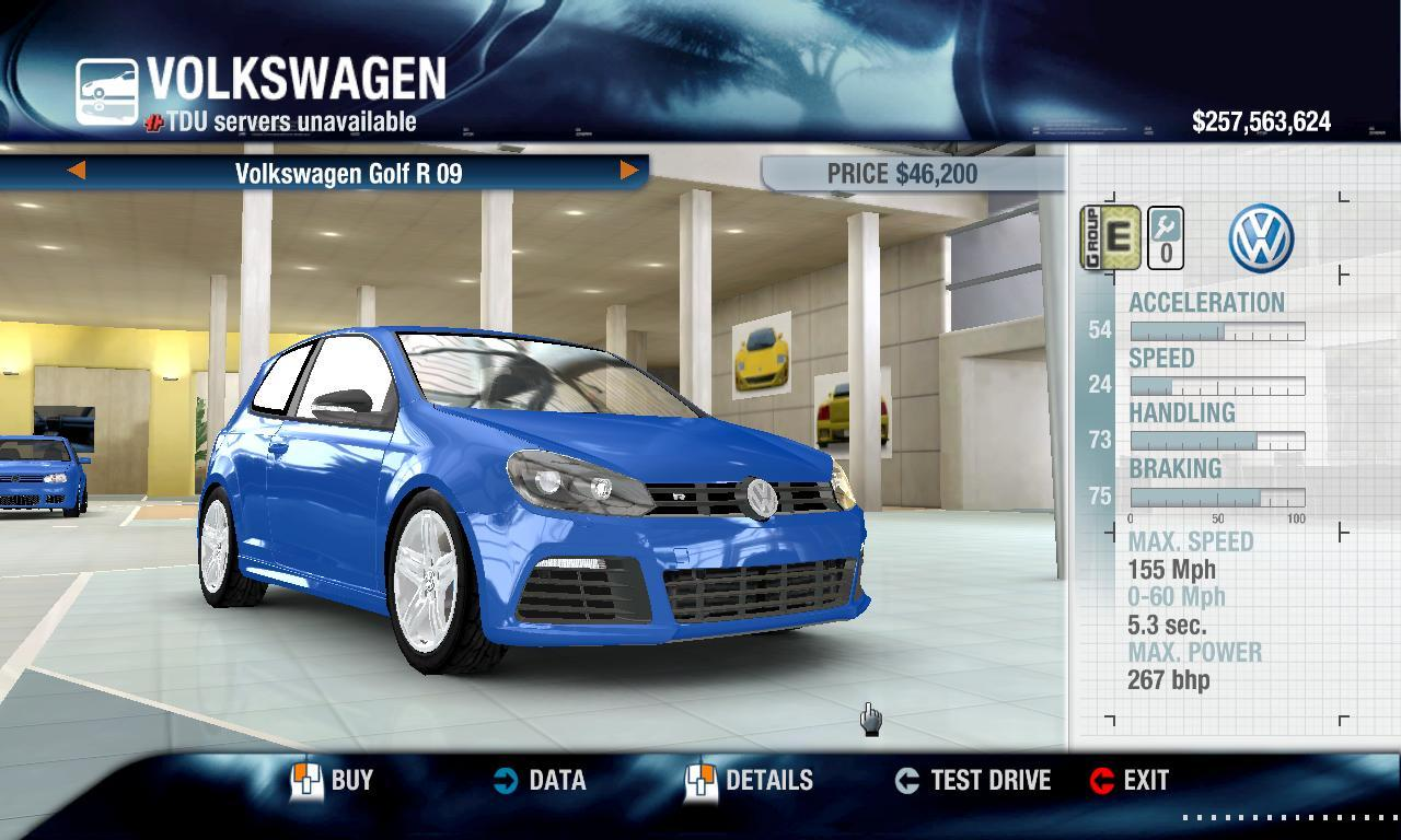 Tool831 2009 Volkswagen Golf R physics + performance packs