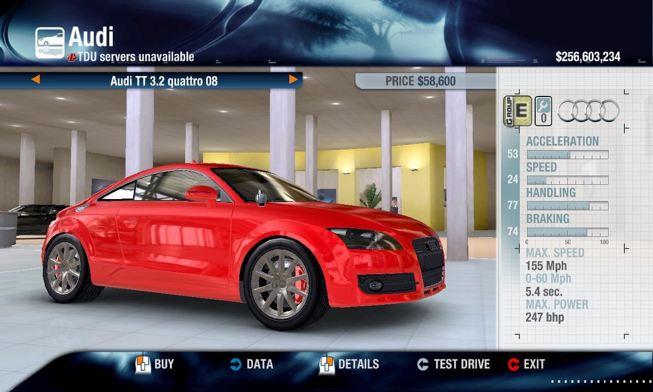 Tool831 2008 Audi TT 3.2 Quattro physics + performance packs
