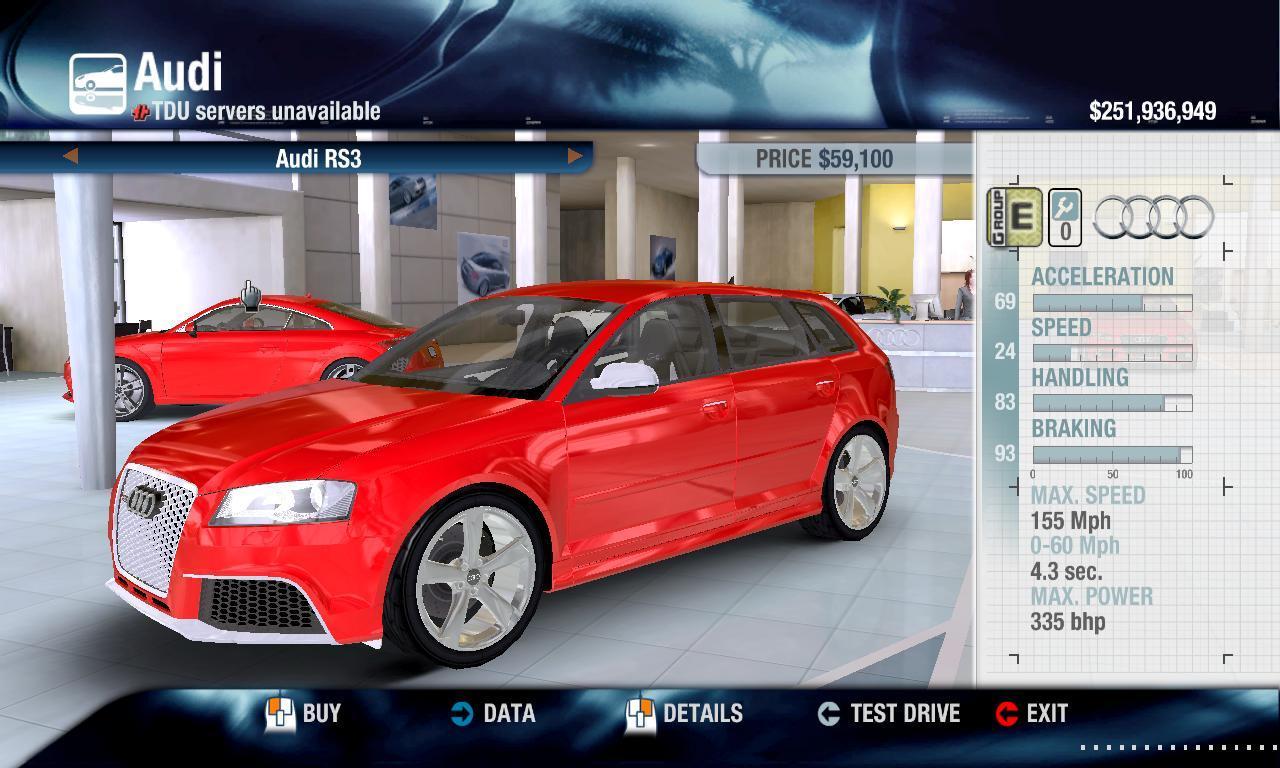 Combat Shotgun 2011 Audi RS3/SE physics + performance packs