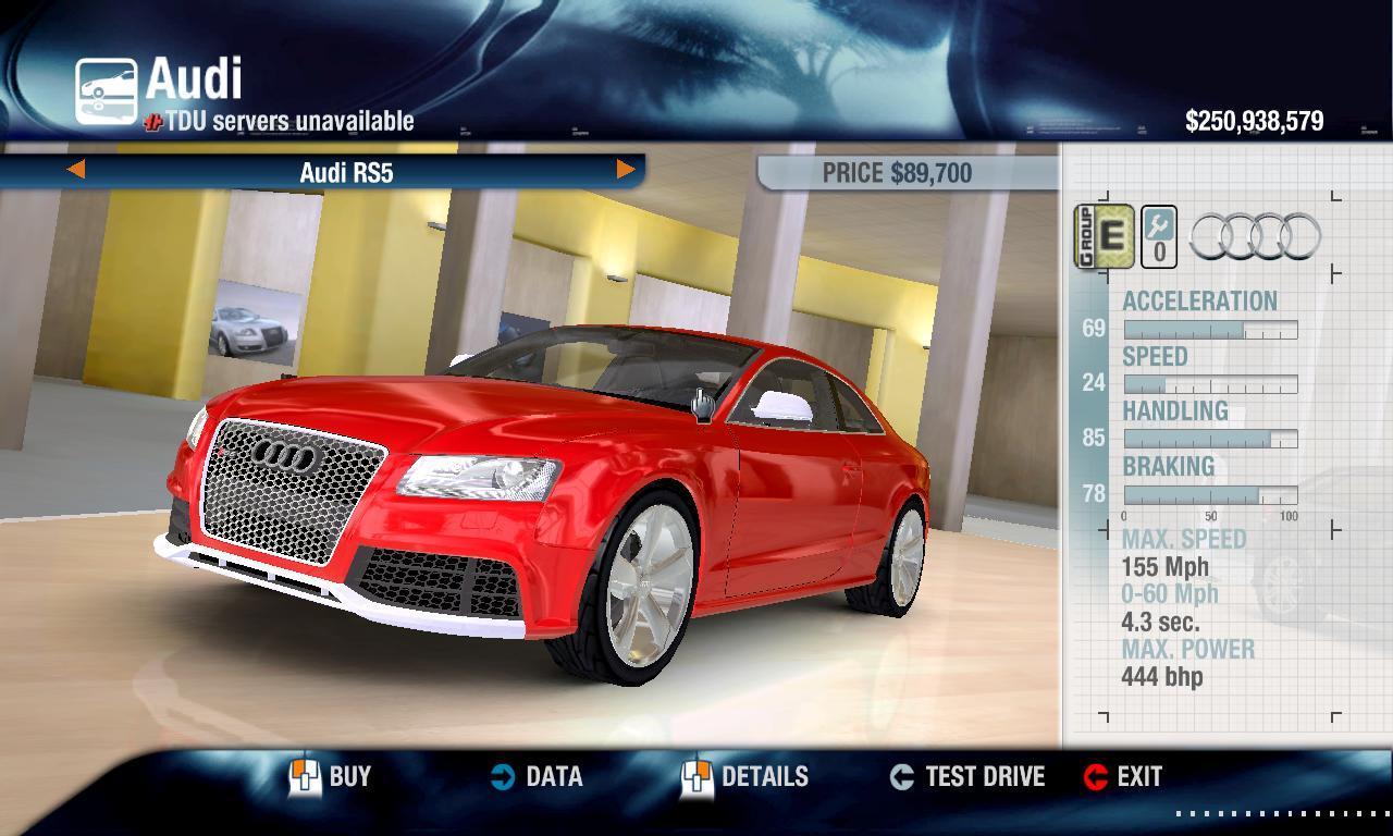 Combat Shotgun 2011 Audi RS5/SE physics + performance packs