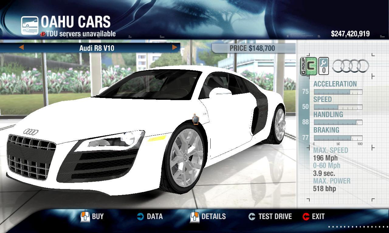 Kamil1945 2010 Audi R8 V10 physics + performance packs