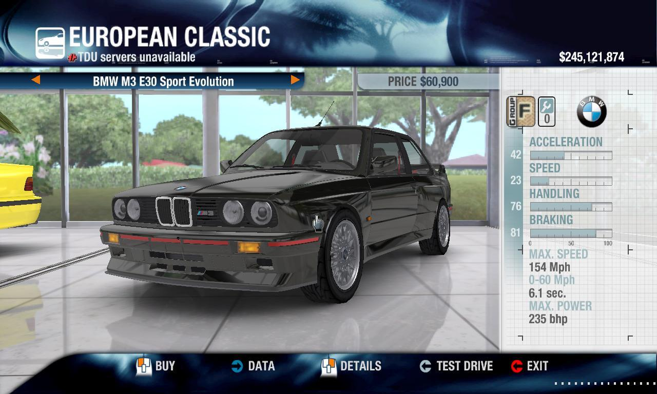 ILLUSION 1990 BMW M3 E30 Sport Evolution and SE physics + performance packs