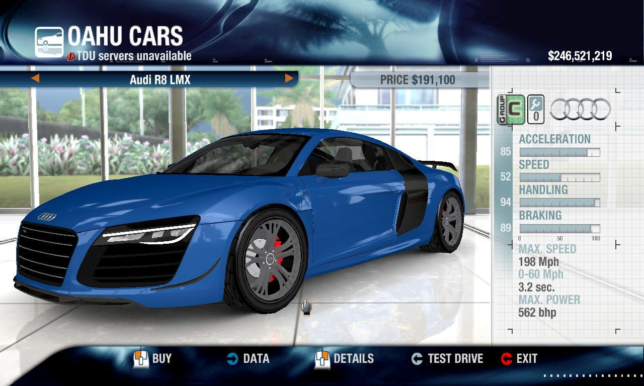 Turbo 2014 Audi R8 LMX physics + performance packs