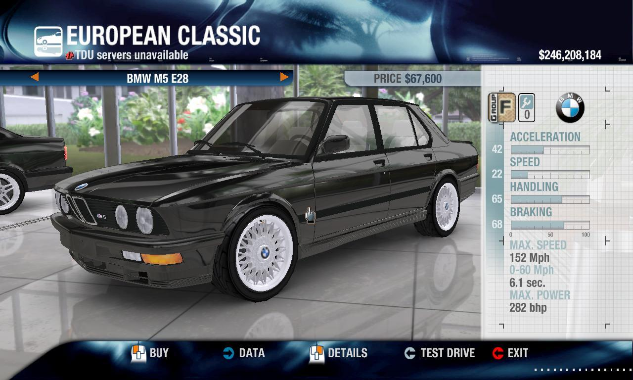Miha2795 1988 BMW M5 physics + performance packs