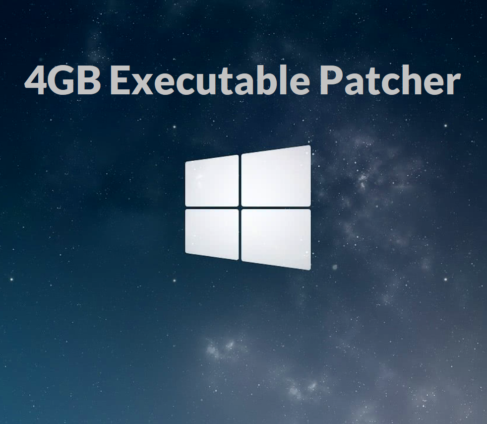 4GB Patcher for older games that require more than 2GB of RAM and crash to desktop